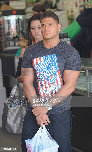 Ronnie OrtizMagro filming on location for 'Jersey Shore' on July 12 2011 in Seaside Heights New Jersey