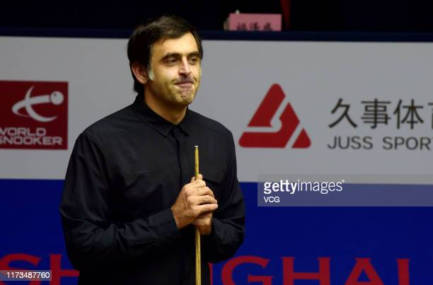 Ronnie O'Sullivan of England attends the breakoff ceremony on day one of 2019 Shanghai Masters at Regal International East Asia Hotel on September 9...