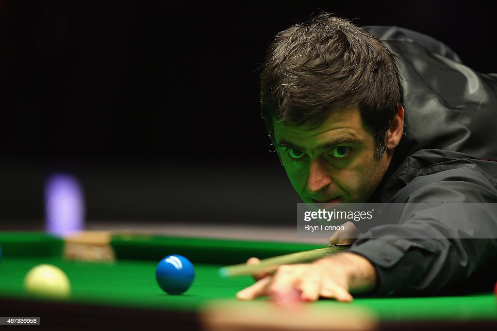 Ronnie O'Sullivan of Great Britain in action during his quarter-final match against Marco Fu of Hong Kong on Day Five of the 2015 Dafabet Masters at Alexandra Palace on January 15, 2015 in London, England.