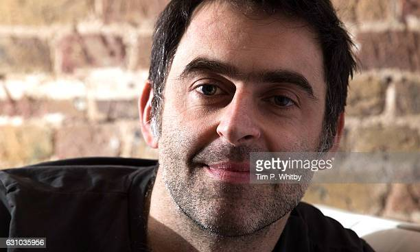 Ronnie O'Sullivan poses for a photo prior to attending a QA for 'Ronnie O'Sullivan's American Hustle' at The Steel Yard on January 5 2017 in London...