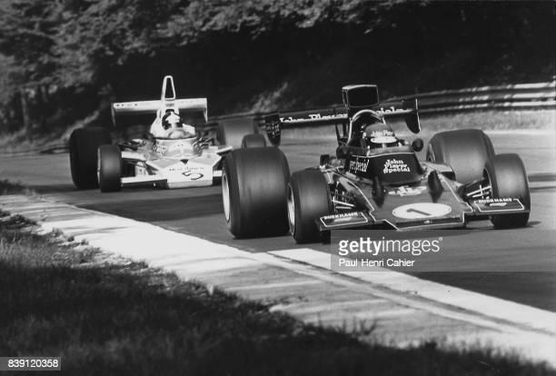 Ronnie Peterson Emerson Fittipaldi LotusFord 72E McLarenFord M23 Grand Prix of Italy Monza 08 September 1974