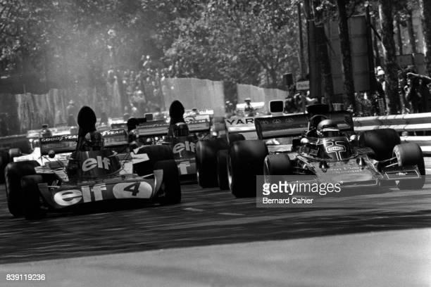Ronnie Peterson François Cevert LotusFord 72E TyrrellFord 006 Grand Prix of Spain Montjuic 29 April 1973