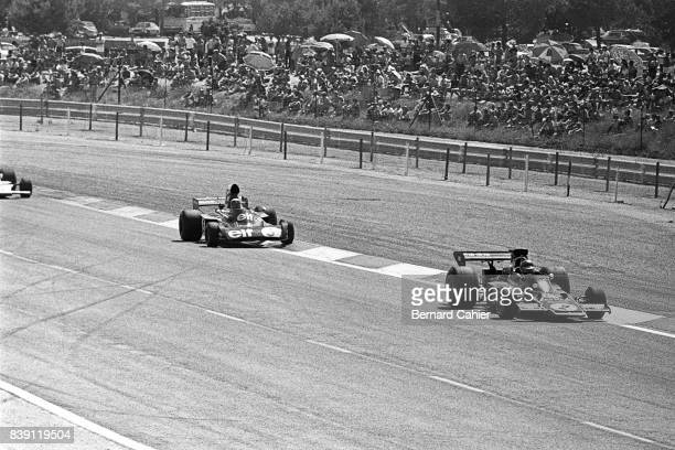 Ronnie Peterson Jackie Stewart LotusFord 72E TyrrellFord 006 Grand Prix of France Paul Ricard 01 July 1973