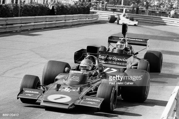 Ronnie Peterson JeanPierre Jarier LotusFord 72E ShadowFord DN3 Grand Prix of Monaco Monaco 26 May 1974
