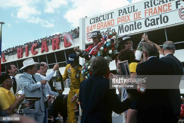 Ronnie Peterson, Mario Andretti, James Hunt, Grand Prix of France, Paul Ricard, 02 July 1978.