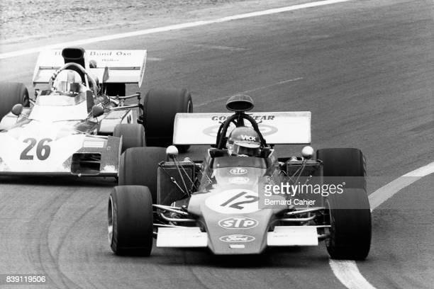 Ronnie Peterson, Mike Hailwood, March-Ford 721G, Surtees-Ford TS9B, Grand Prix of France, Charade Circuit, 02 July 1972.