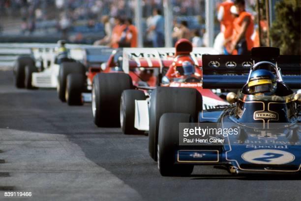 Ronnie Peterson Niki Lauda LotusFord 72E BRM P160D Grand Prix of Monaco Monaco 03 June 1973
