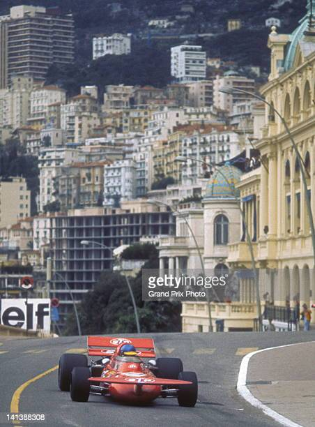 Ronnie Peterson of Sweden drives the STP March Racing Team March 711 Cosworth V8 during the Monaco Grand Prix on 23rd May 1971 on the streets of the...