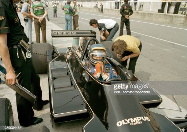 Ronnie Peterson of Sweden in the Lotus 79 during the British Grand Prix at the Brands Hatch circuit in Fawkham England on July 16 1978