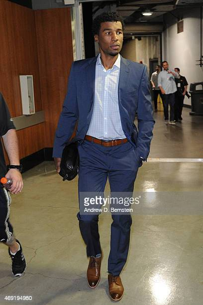 Ronnie Price of the Los Angeles Lakers arrives at the arena before a game against the Los Angeles Clippers at STAPLES Center on April 07 2015 in Los...