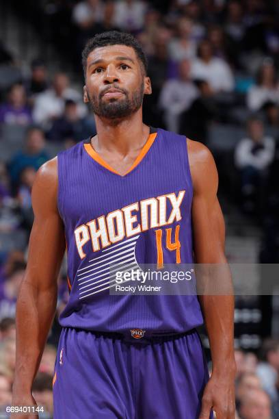 Ronnie Price of the Phoenix Suns looks on during the game against the Sacramento Kings on April 11 2017 at Golden 1 Center in Sacramento California...