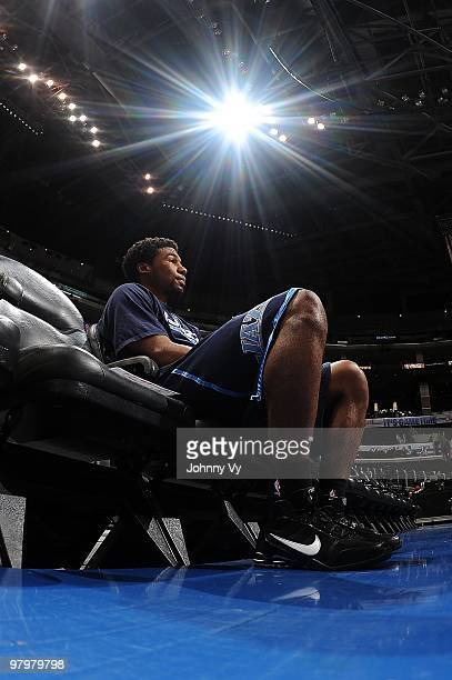 Ronnie Price of the Utah Jazz sits during wamups before the game against the Los Angeles Clippers on February 9 2010 at Staples Center in Los Angeles...