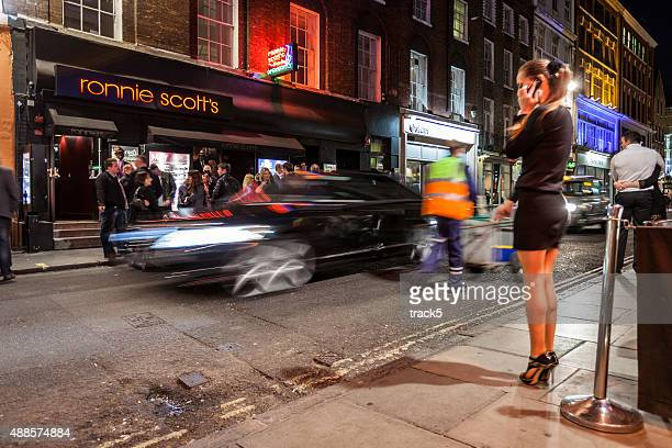 ronnie scott's jazz club, soho, london - red light district stock photos and pictures