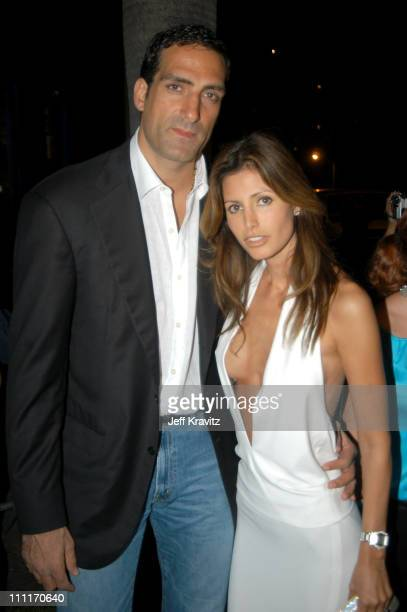Ronnie Seikaly and Elsa Benitez during MTV Video Music Awards Latin America 2003 Red Carpet at Jackie Gleason Theater in Miami Beach Florida United...