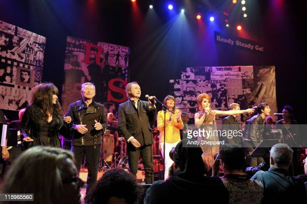Ronnie Spector Dave Berry Ray Davies Sandie Shaw Paloma Faith Carl Barat and Nona Hendryx perform on stage during a recreation of the 1960's British...