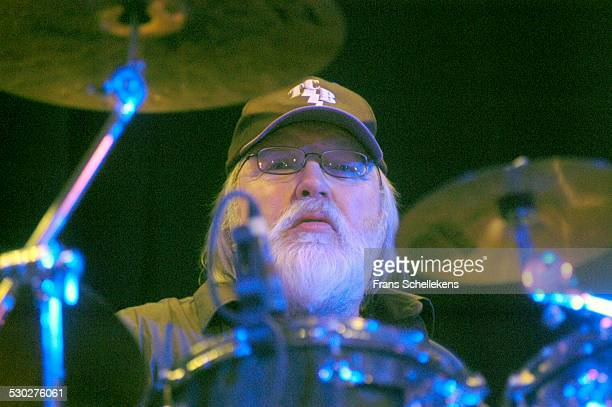 Ronnie Tutt, drums, performs with the Elvis Presley band at the Paradiso on January 8th 2004 in Amsterdam, Netherlands.