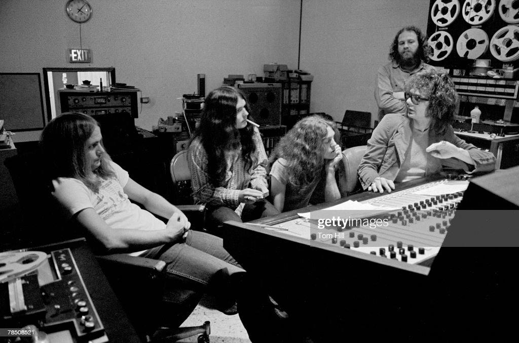 Al Kooper in Control Room, Studio I - May 6, 1973 : News Photo