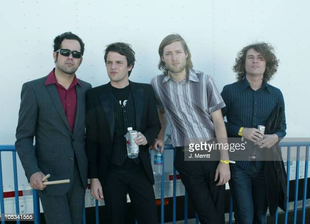 Ronnie Vannucci Brandon Flowers Mark Stoermer and David Keuning of The Killers