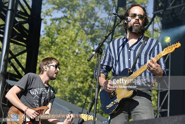 Ronnie Vannucci Jr of Big Talk performs during the Bottle Rock Napa Valley Music Festival at the Napa Valley Expo on May 29 2015 in Napa California