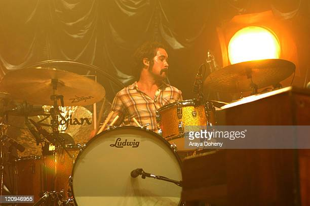 Ronnie Vannucci Jr of the The Killers during The Killers in Concert at the Warfield of San Francisco October 8 2006 at The Warfield in San Francisco...