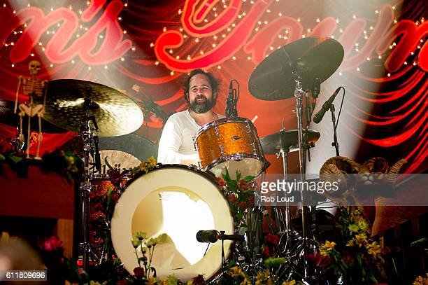 Ronnie Vannucci of The Killers performs at The Killers Sam's Town Decennial Extravaganza at Sam's Town Hotel Gambling Hall on September 30 2016 in...