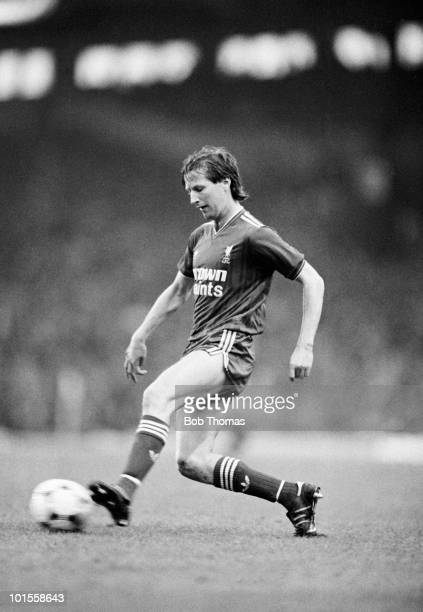 Ronnie Whelan of Liverpool during the Liverpool v Norwich City Screen Sport Cup Semi-Final match played at Anfield, Liverpool on the 5th May 1986.