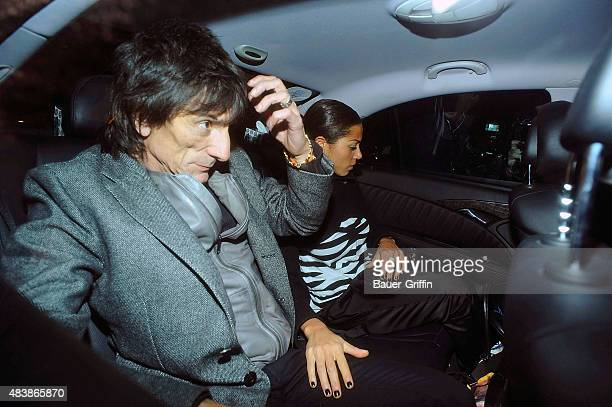 Ronnie Wood and Ana Araujo are seen attending the 'Boogie for Stu A Tribute to Ian Stewart' a charity concert in memory of The Rolling Stones...