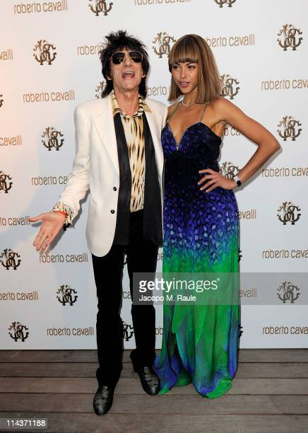 Ronnie Wood and Ana Araujo attend the Cavalli Boutique Opening during the 64th Annual Cannes Film Festival on May 18, 2011 in Cannes, France.
