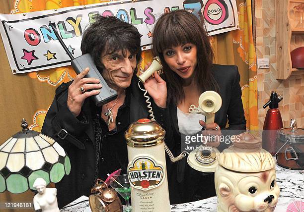 Ronnie Wood and Ana Araujo attend the Gold Nelson Mandela House launch celebrating Only Fools at 30 on Gold on August 23 2011 in London England