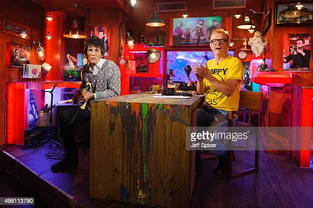 Ronnie Wood and Chris Evans during a live broadcast of 'TFI Friday' on November 27 2015 in London England