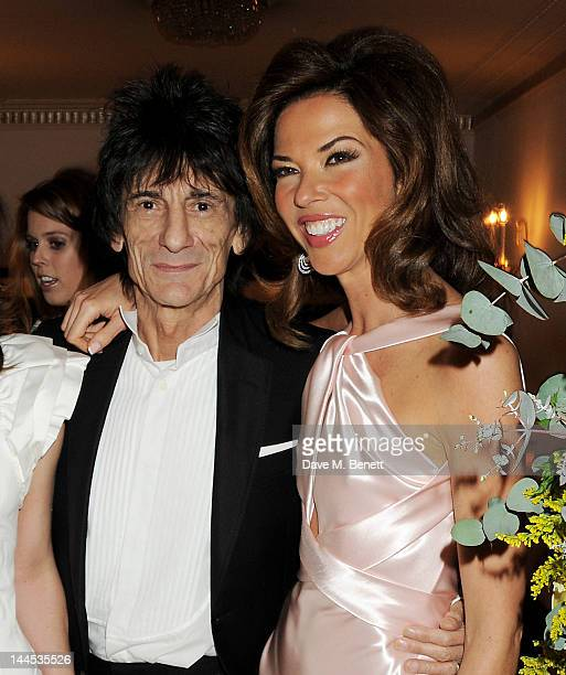 Ronnie Wood and Heather Kerzner attend the Marie Curie Cancer Fundraiser hosted by Heather Kerzner at Claridge's Hotel on May 15 2012 in London...