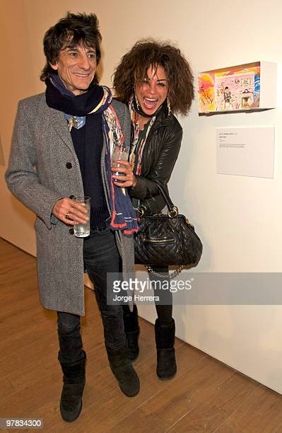 Ronnie Wood and his new girlfriend Ana Araujo attend the Shoebox Art Auction in aid of Kids Company and The Bryan Adams Foundation on March 18 2010...
