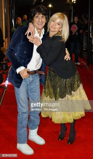 Ronnie Wood and his wife Jo arrive for the UK Music Hall Of Fame live final at the Hackney Empire in east London The Channel 4 series looking at...