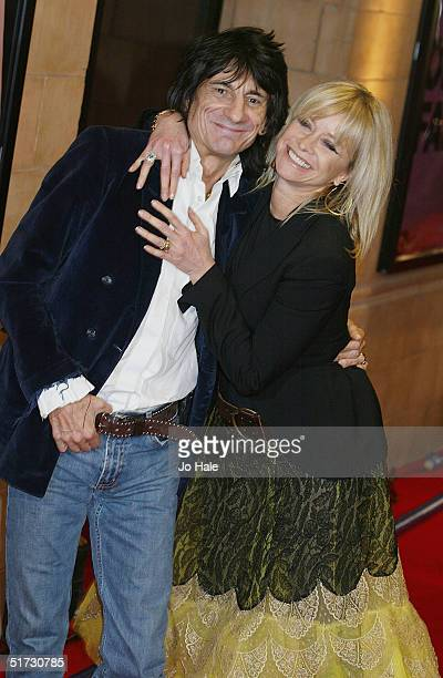 Ronnie Wood and Jo Howard arrive at the final of 'UK Music Hall Of Fame' the Channel 4 series looking at popular music from the 1950's to the 1990's...