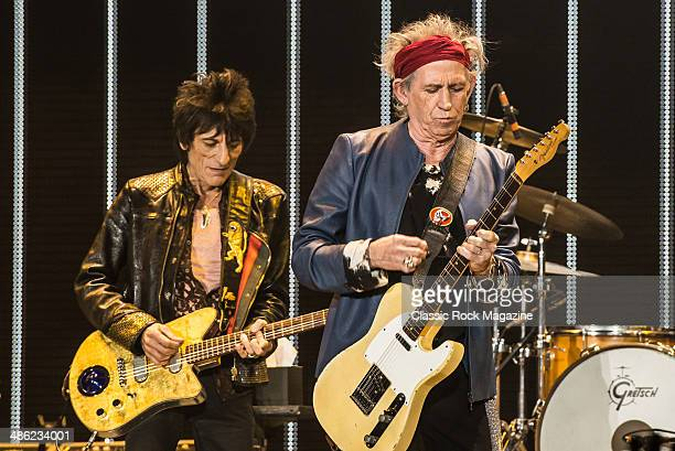 Ronnie Wood and Keith Richards of English rock band The Rolling Stones performing live onstage at The O2 Arena in London November 29 2012