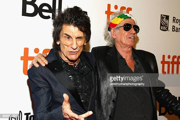"""Ronnie Wood and Keith Richards of The Rolling Stones attend the """"The Rolling Stones Ole Ole Ole!: A Trip Across Latin America"""" premiere held at Roy..."""