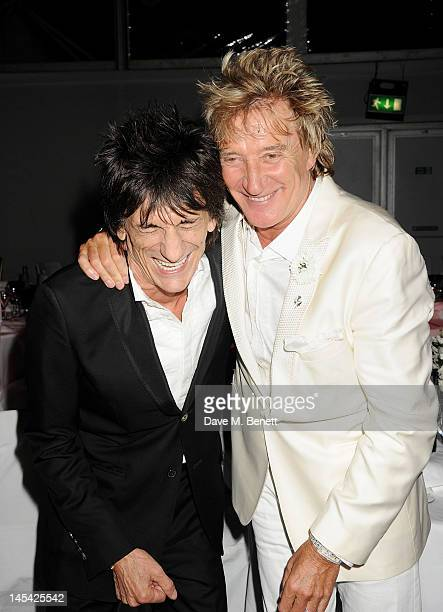 Ronnie Wood and Rod Stewart attend an after party following the Glamour Women of the Year Awards in association with Pandora at Berkeley Square...