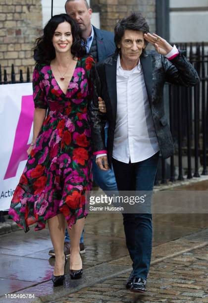 Ronnie Wood and Sally Humphreys Wood attend the first annual gala dinner in recognition of Addiction Awareness Week at Phillips Gallery on June 12...