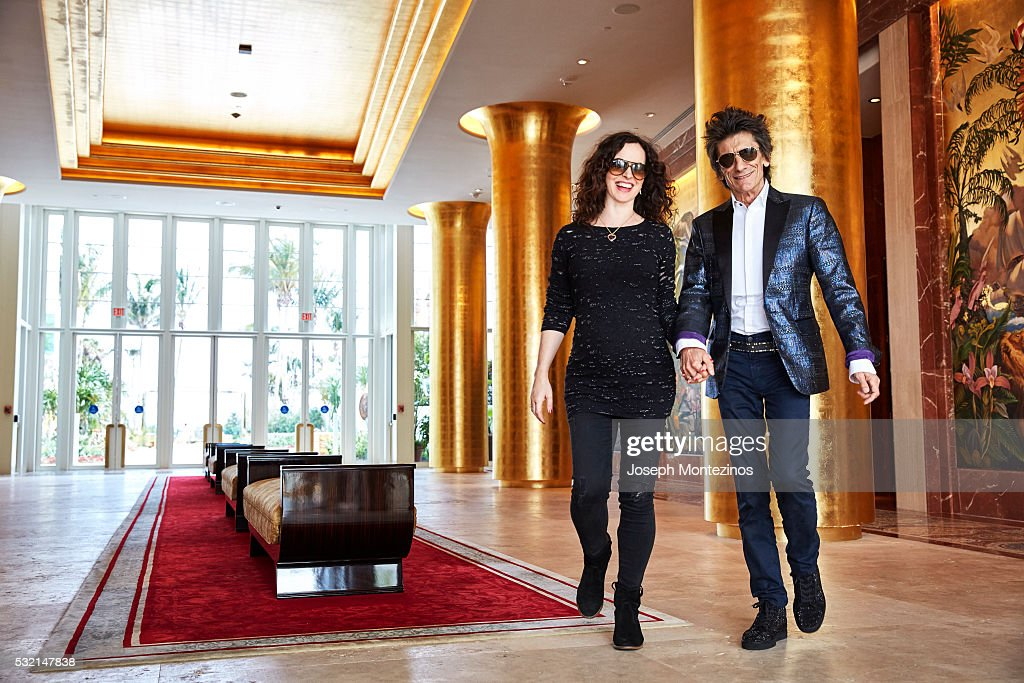 Ronnie Wood and Sally Wood are photographed for Hello! UK on March 28, 2016 in Miami, Florida. PUBLISHED