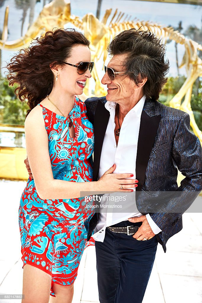 Ronnie Wood and Sally Wood are photographed for Hello! UK on March 28, 2016 in Miami, Florida.
