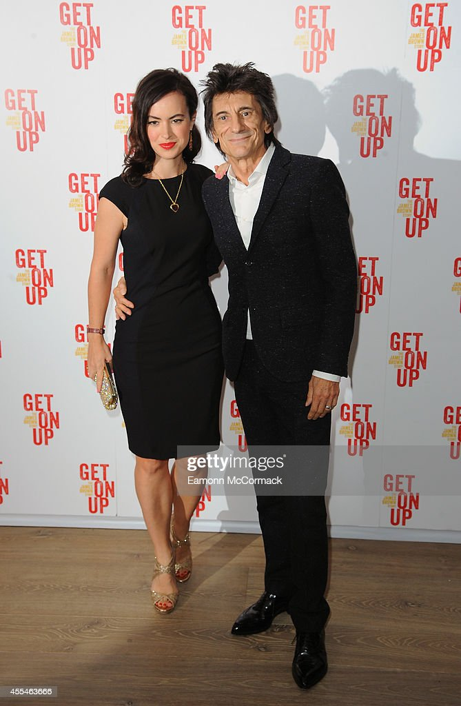 Ronnie Wood and Sally Wood attend a special screening of 'Get On Up' on September 14, 2014 in London, England.