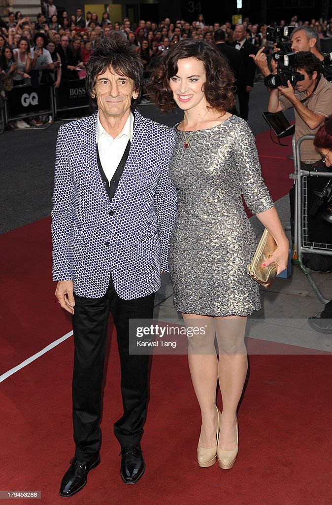 Ronnie Wood and Sally Wood attend the GQ Men of the Year awards at The Royal Opera House on September 3, 2013 in London, England.