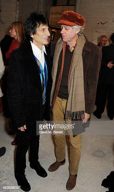 Ronnie Wood and Sir Bob Geldof attend a private view of Nikolai Von Bismarck's new photography exhibition 'In Ethiopia' at 12 Francis Street Gallery...