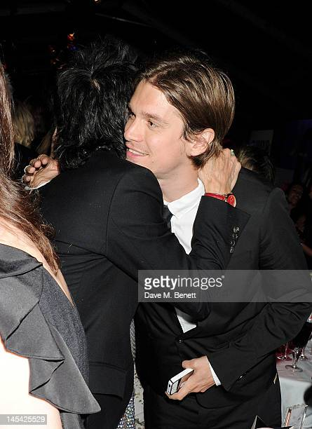 Ronnie Wood and son Jesse Wood attend an after party following the Glamour Women of the Year Awards in association with Pandora at Berkeley Square...