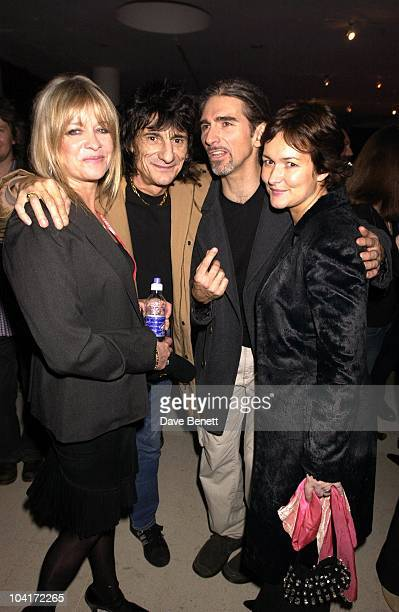 Ronnie Wood And Wife Jo With Damon Hill And Wife Georgie, The Grand Prix Ball At The Royal Albert Hall And He After Party At The Royal College Of...
