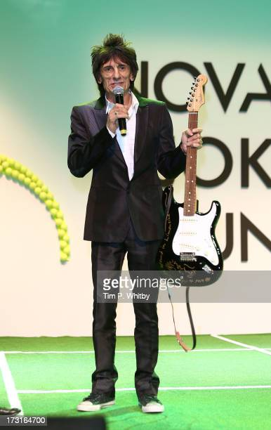 Ronnie Wood attends the Novak Djokovic Foundation inaugural London gala dinner at The Roundhouse on July 8 2013 in London England The foundation...