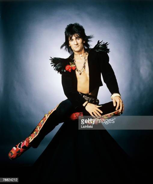 Ronnie Wood, British rock guitarist and bassist, songwriter, producer and artist, member of The Rolling Stones, formerly with The Faces and The Jeff...