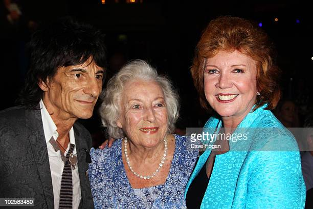 Ronnie Wood Dame Vera Lynn and Cilla Black attend the auction at The Nordoff Robbins Silver Clef Awards 2010 held at The London Hilton on July 2 2010...
