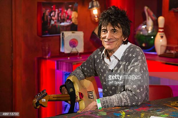 Ronnie Wood during a live broadcast of 'TFI Friday' on November 27 2015 in London England