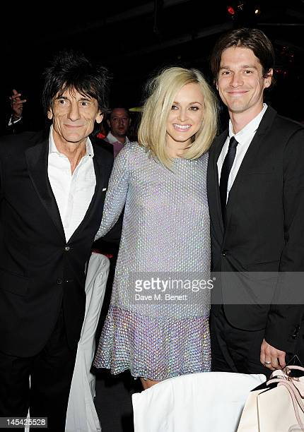 Ronnie Wood Fearne Cotton and Jesse Wood attend an after party following the Glamour Women of the Year Awards in association with Pandora at Berkeley...